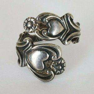 Avon Jewelry - Vintage 1975 Heart Avon Sterling Silver Spoon Ring